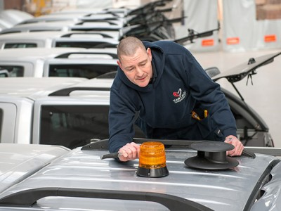 Vantage fit & supply a complete range of exterior van lights as part of your vehicle conversion service including exterior beacons and work lamps.