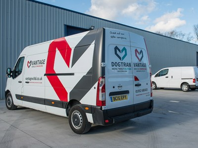 As part of our complete light commercial vehicle conversion service Vantage supplies & fits vehicle livery. Call 01952 680433 to discuss your requirements