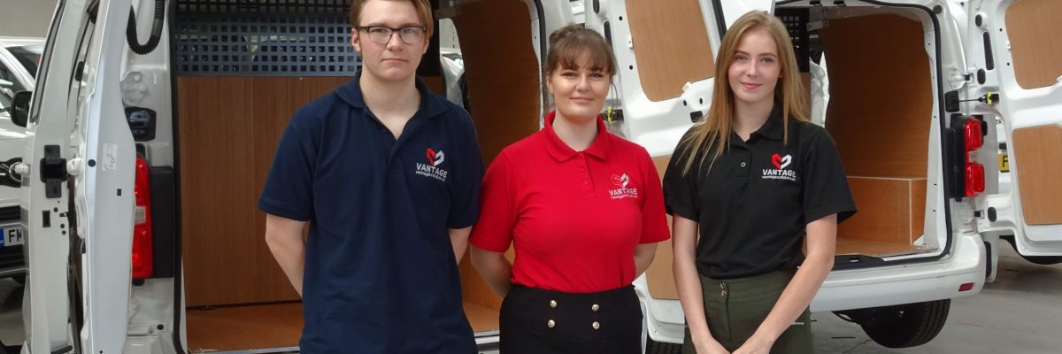 Vantage Vehicle Conversions is delighted to welcome two new joiners to its flourishing apprenticeship scheme – Amie Cornforth and Owen Bissell.
